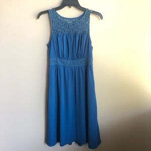 Anthropologie HD in Paris mesh blue dress size 0